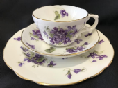 Beautiful Hammersley VICTORIAN VIOLETS tea trio
